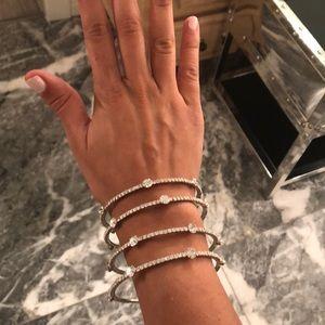 Jewelry - Faux rhinestone lightweight bangles
